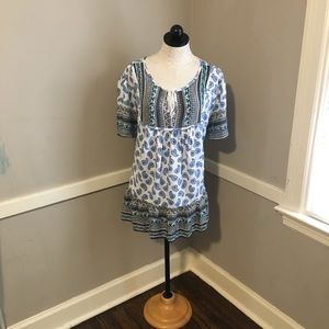 Woman Within Tops - Woman Within size 2XL boho style blouse blue